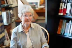 Margaret Mock has held many roles at UMW since 1976, including director of news and media relations. Today, she works part-time in the bookstore.