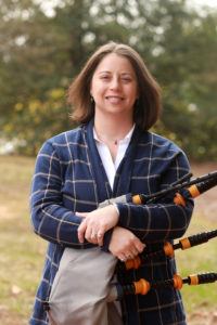 Assistant Professor of Historic Preservation and Eagle Pipe Band Leader Lauren McMillan. Photo by Karen Pearlman Photography.
